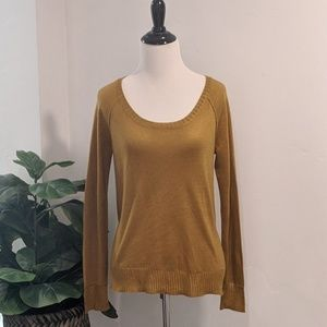 Rachel Roy Open Back Mustard Yellow Sweater